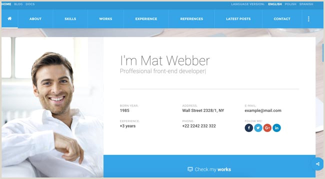 Web Design Business Cards Templates 30 Best HTML Virtual Business Card Templates 2016 Designmaz