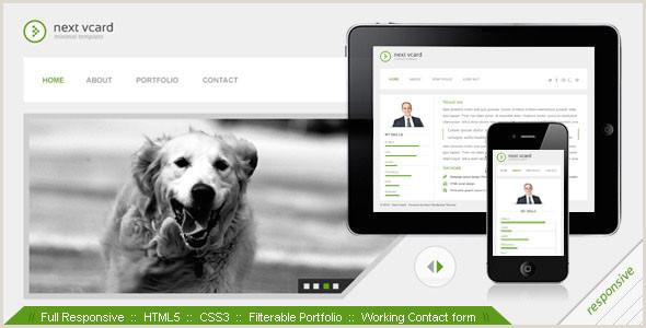 Web Design Business Cards Templates Free Virtual Business Card Vcard HTML Website Templates