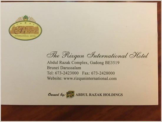 Website Business Card Info & Business Card Picture Of The Rizqun International