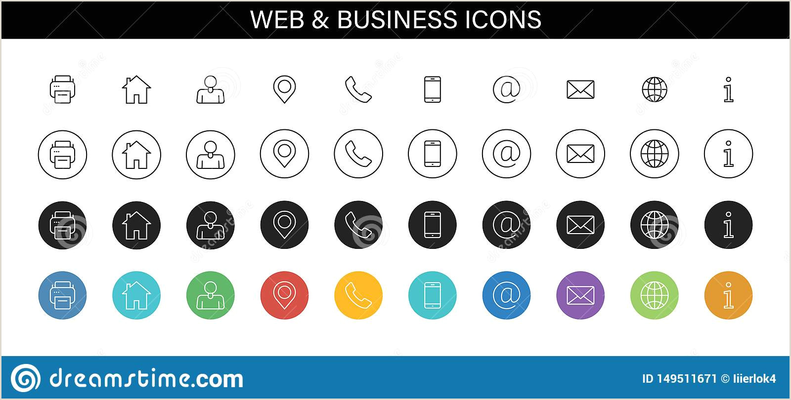 Website Icon For Business Card Business Card Icons Stock Illustrations – 91 841 Business