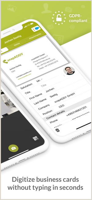 What Are The Best Business Cards? Snapaddy Cardscanner On The App Store