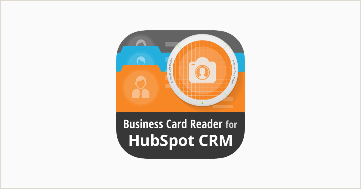 What Do You Put On A Business Card Business Card Reader 4 Hubspot On The App Store
