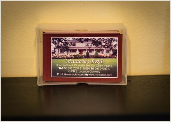 What Is On A Business Card Our Business Card Picture Of Minnock S Bed & Breakfast