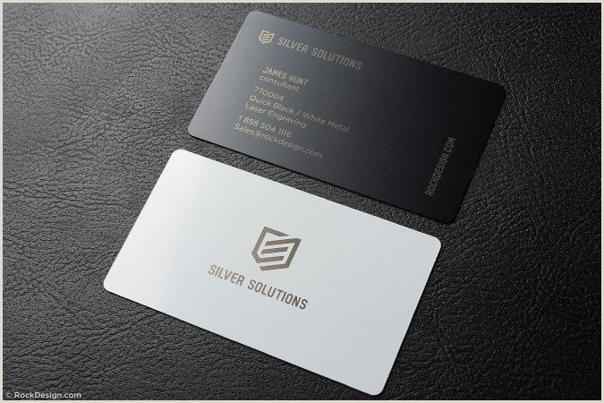 What Is The Best Business Cards Design For Jewelry Awesome Jeweler Quick Metal Business Card With Laser