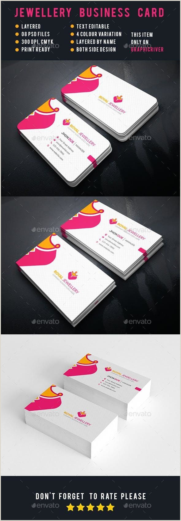 What Is The Best Business Cards Design For Jewelry Jewellery Corporate Business Cards For $5 Graphic