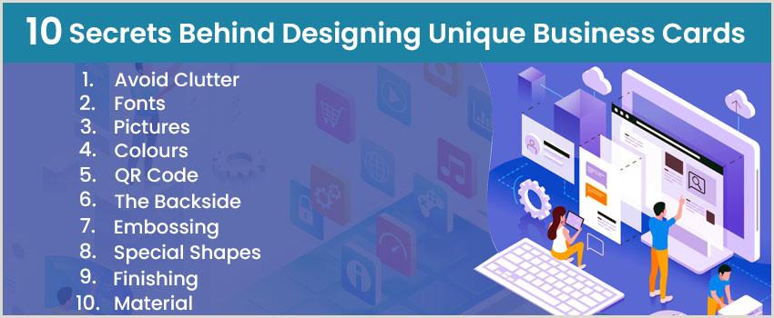 What Makes Business Cards Unique Tips To Design Unique Business Cards