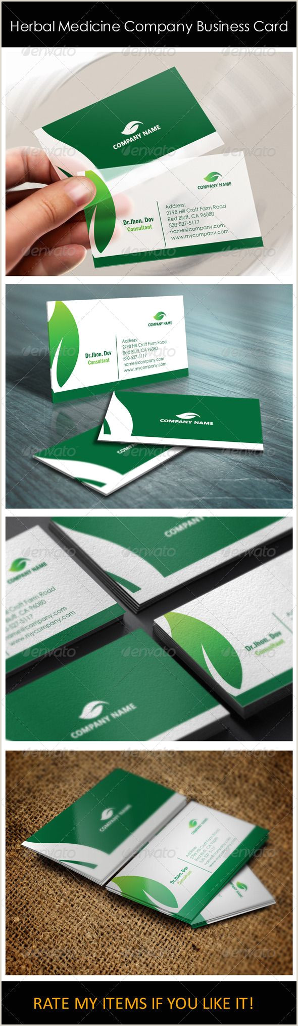 What Should Be On My Business Card Herbal Medicine Pany Business Card Templates