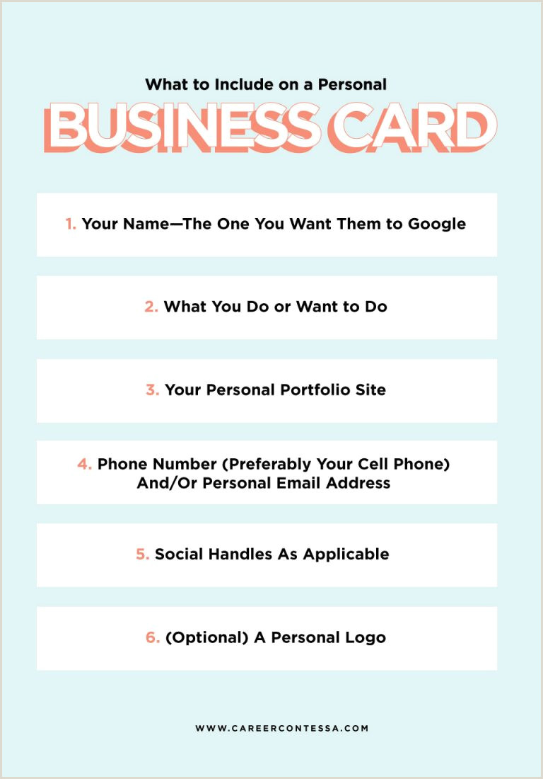 What To Put On Personal Business Card Fact You Need A Personal Business Card Here S What It
