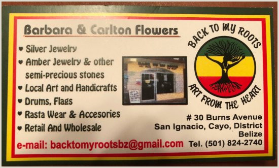 What To Put On The Back Of A Business Card Carlton S Business Card Picture Of Back To My Roots San