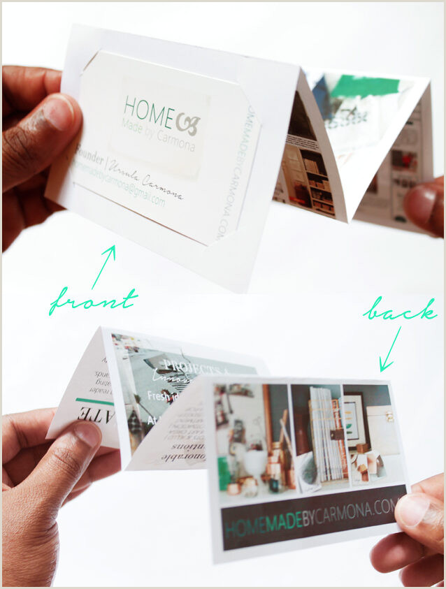 What To Put On The Back Of A Business Card The Back A Business Card