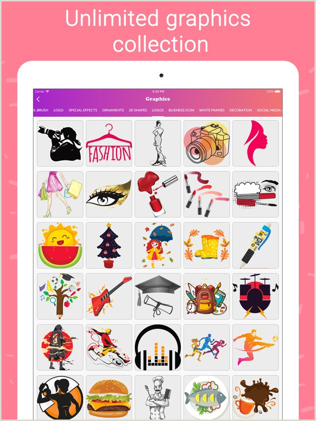 Where Do I Find Social Media Images For Business Cards Business Card Maker Creator On The App Store