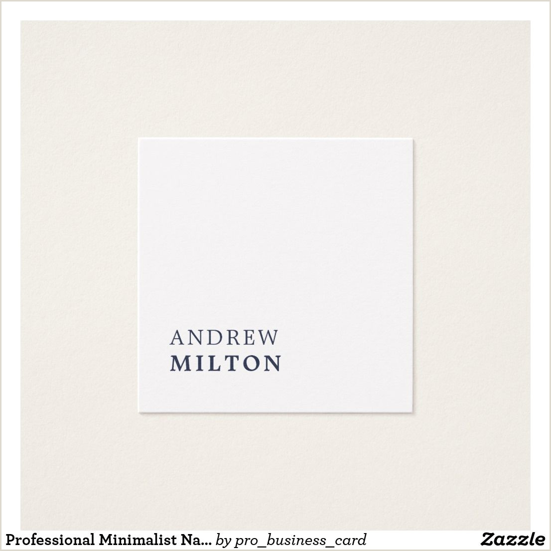 Where To Get Business Cards Made Same Day Professional Minimalist Navy Blue White Consultant Square