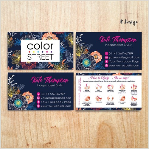 Where To Purchase Business Cards Personalized Color Street Business Cards Colorstreet Application Cl28