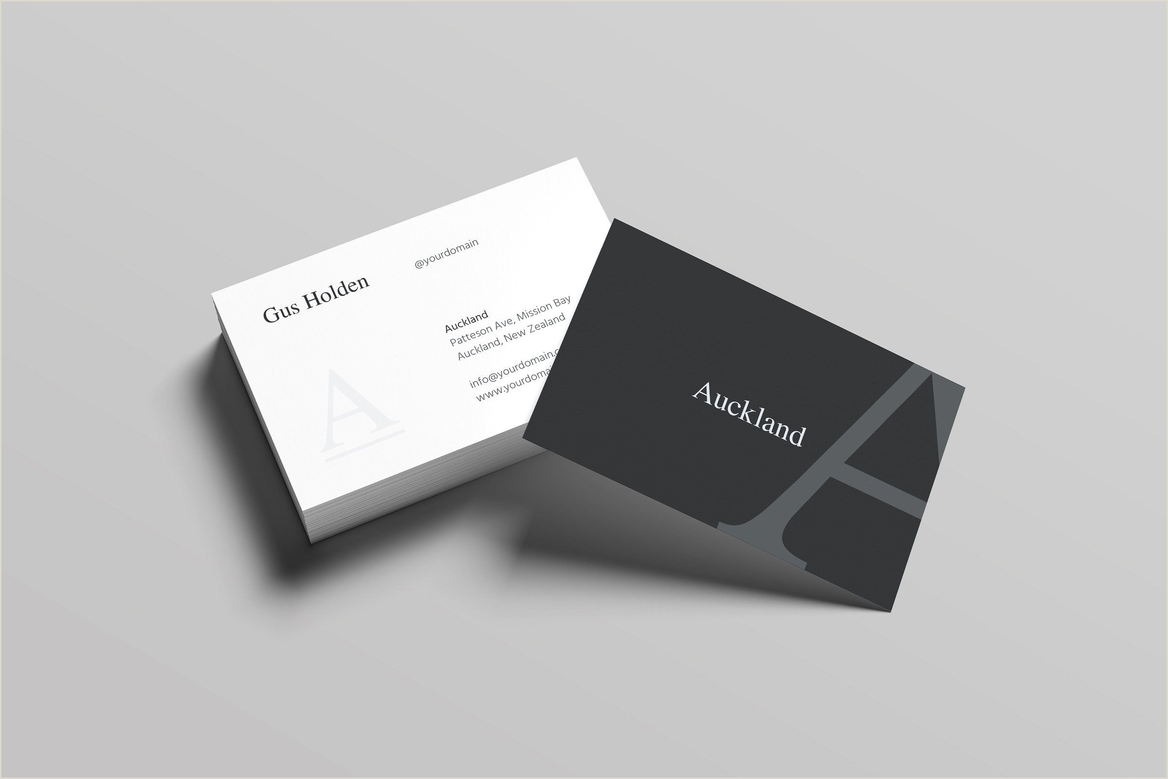White Business Card Template Auckland Business Card