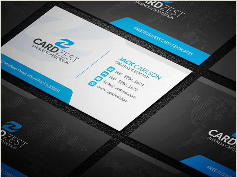 White Business Card Template Black Blue And White Corporate Business Card Template