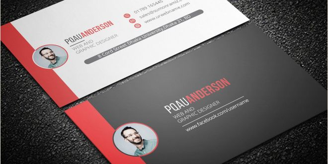 White Business Card Template Personal Business Card