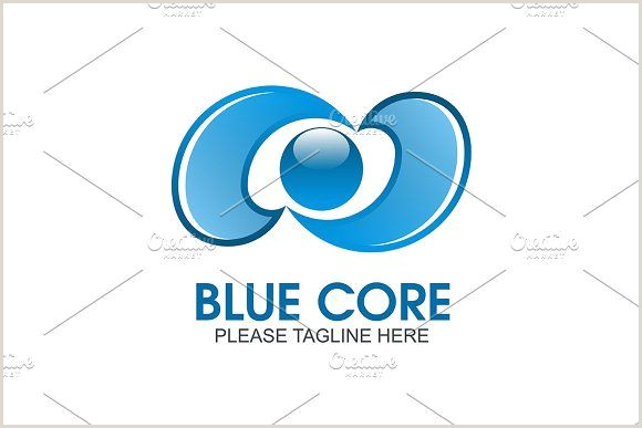 Your Company Logo Here Blue Core