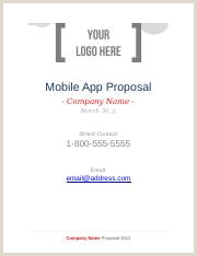 Your Company Logo Here Mobile App Proposal Mobile App Proposal Pany Name March