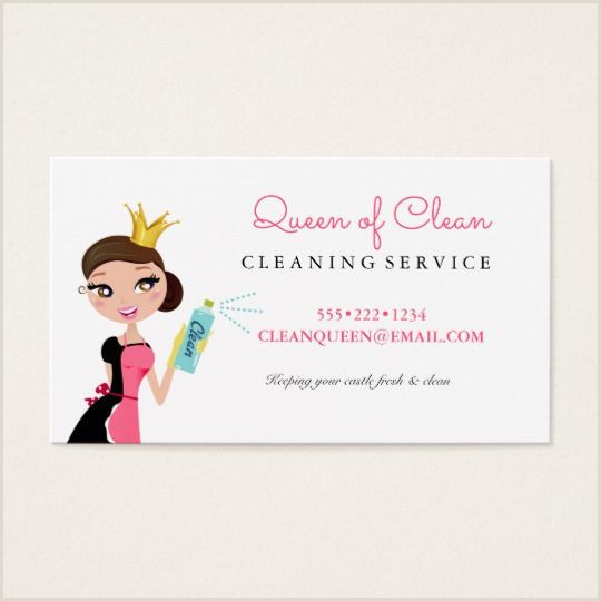 Your Personality Is Your Business Card Cleaning Maid Service Brunette Character Crown Business Card