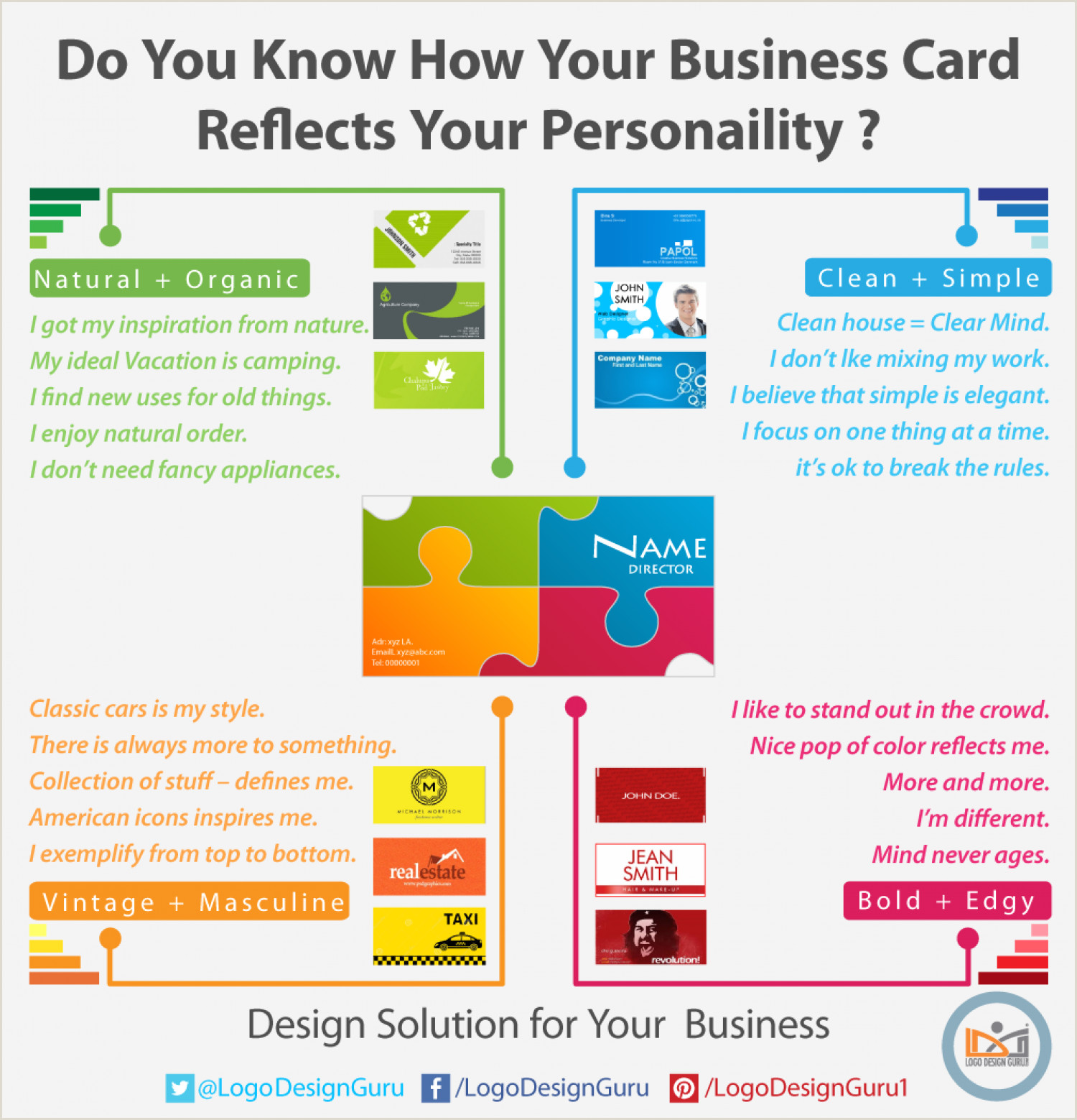 Your Personality Is Your Business Card Do You Know How Your Business Card Reflects Your Personality