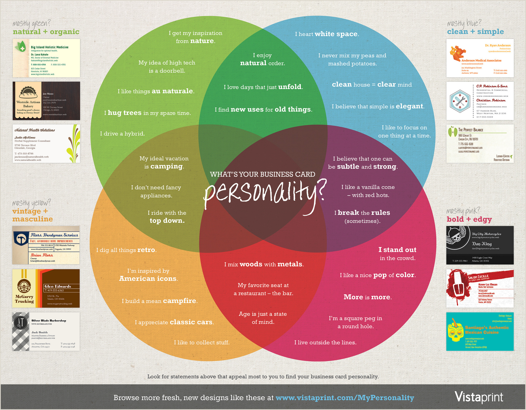 Your Personality Is Your Business Card What S Your Business Card Personality [infographic